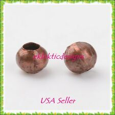 3mm 200 pc Antique Copper Bronze Metal Spacer Beads Jewelry Findings Necklace