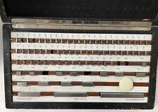 Starrett 81 Piece Rectangular Gage Block Set Grade 3 Missing 7 Blocks As Is