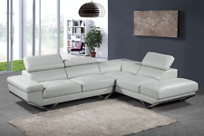 2 Piece Sectional Sofa Set Sofa Sky Top Grain Leather Match Living Room Couch