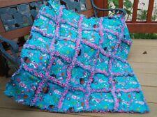 Rag throw quilt Doc McStuffins  handmade USA #151