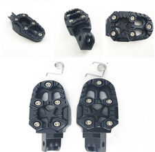 2x Universal 8mm Metal Off-road Motorcycle Foot Pegs Pedals Footrests Black New
