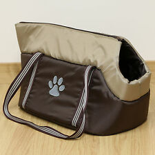 Brown Padded Pet Travel Carrier Hand/Tote/Shoulder Bag for Dog/Puppy/Cat/Kitten