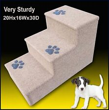 Pet Stairs. Dog steps. 3 steps for Dogs/Cats. Beige. Veterinarian recommended!