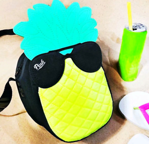 Victoria's Secret PINK Pineapple Cooler Sunglasses🍍 Insulated Lunch Tote $29