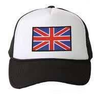 Winter Knit Black Beanie Cuff United Kingdom Flag 3D Patch Embroidery