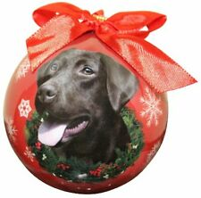 Chocolate Lab Christmas Ornament Shatter Proof Ball Easy To Personalize
