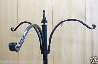 "Erva Wrought Iron 3 Arm Hanger 12"" Reach  for Bird Feeders Plants for 1"" Pole"