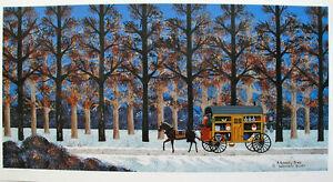 "Wooster Scott ""A Lonely Trek"" S/N COA Primitive Art, Snow! Doc on Call"