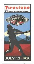 (3) 2011 MLB All Star Ballot New Unpunched Great Collecter's Item Free SnH L@@K