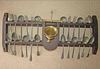 rare porte couverts d' étain 19ème de couvent - mortier bronze