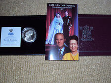 1997 UK SILVER PROOF, FIVE POUND COIN, GOLDEN WEDDING, COMMEMORATIVE CROWN
