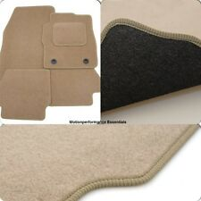 Perfect Fit Beige Carpet Car Floor Mats for VW Lupo 97-05 - Thick Heel Pad