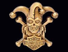 HARLEY DAVIDSON RARE CLOWN SKULL 3D DIE CAST PIN