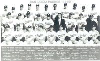 1953 SAN DIEGO PADRES PCL TEAM 8X10 PHOTO  BASEBALL CALIFORNIA USA