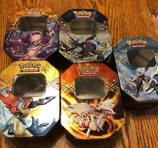 Pokemon Trading Card Tin Holder Storage Lot 5 2012 2013 Container
