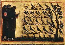 Alte Kunstpostkarte - Florenz - B. Berlinghieri-St. Franzikus predigt den Vögeln