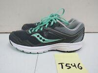 Saucony Women's Cohesion 10 Running Shoes Gray/Mint Sz. 8.5M T546