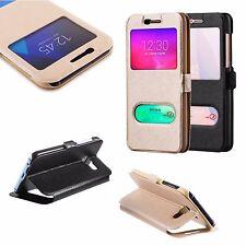 * LUXURY Window FLIP Case Tasche Cover Etui S-VIEW mit MAGNET Huawei P10 Lite