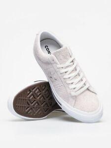 Size 8 UK Converse Mens Suede One Star Ox Trainer | White / White BNIB