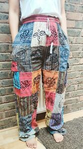 Nepalese patchwork unisex funky Hippy colorful Printed Durable Cotton Trouser