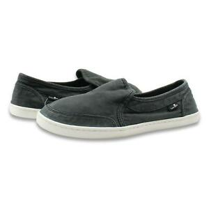 Sanuk Womens Pair O dice Shoes Washed Black 7 New