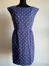 Emily and Fin Megan Dress In Lavender Blue With Spots. Size M (12 UK)