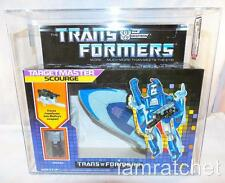Transformers Original G1 AFA 85 Targetmaster Scourge MIB Error Box Hand Cut Box
