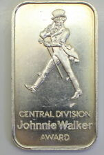 """Scarce 1 oz .999 Fine Silver """" JOHNNIE WALKER"""" Artbar JM-1 Minted in 1985"""