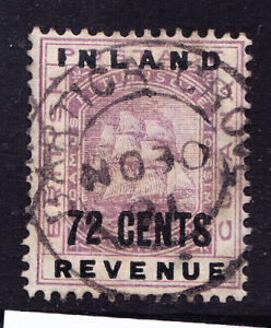 BRITISH GUIANA 1888 SG184 72c overprint on INLAND REVENUE - fine used. Cat £65