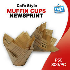 CAFE STYLE MUFFIN CASES NEWSPRINT PAPER 300/PC CUPCAKE BOXES CAKE BOXES P50