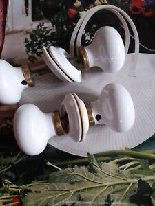 Vintage ceramic door knobs white 2