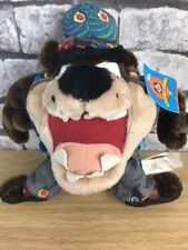 Taz The Tasmanian Devil Plush In Hippy Festival Costume Looney Tunes 1999