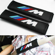 New Black 2pcs BMW M Sport Car Seat Belt Cover Pads Shoulder Cushion For BMW