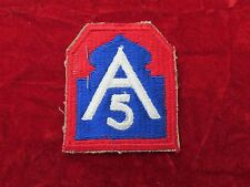 US Army Force 5th Army  5th  World War Two patch w/ tag