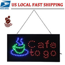 F5 Led Ultra Bright Neon Light Window&Door Hang Sign Cafe Sign Board w/Switch