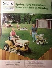 Sears 1975 Suburban-Farm Catalog FULL COLOR Garden Tractor 192pg Tiller SS/16 ST