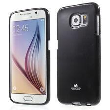 Korean Mercury TPU Gel Jelly iSkin Case Cover for Samsung Galaxy S6 - Black