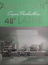 American Tool Lathe Super Productive 48 Lathe Radials Shapers Catalog 96