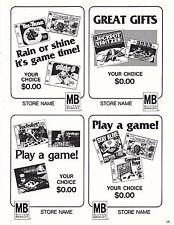 VINTAGE AD SHEET #3540 - 1979 MILTON BRADLEY GAMES - JACKPOT YAHTZEE - TWISTER