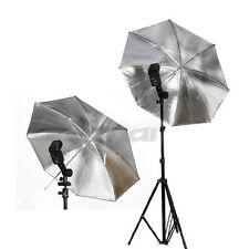 New 33'' 33 inch Studio Soft Flash Light Reflector Umbrella silver black 83cm
