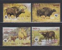 AK40  - ANIMAL KINGDOM STAMPS CAMBODIA 1986 BUFFALO WWF MNH