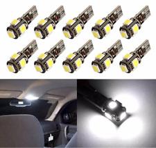 6 Pcs T10 Error Free W5W Canbus LED White Bulb Side Parking Light 6000K HID