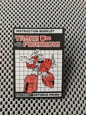 Transformers G1 Powermaster Optimus Prime Instruction Booklet Manual