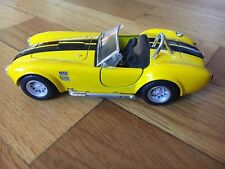 """1965 Shelby Cobra 427 S/G, 5"""" Die Cast Metal 1:32 Pull Back Kinsmart Toy Yellow"""