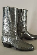 RARE! T.O. STANLEY Full Alligator Boots Size 9 D Men Custom Cowboy Exotic Vtg