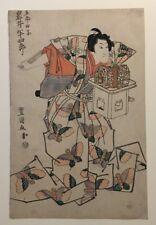 Utagawa Tokyokuni II., Iwai Hanshiro, Holzschnitt, ca. 1820/30, Original