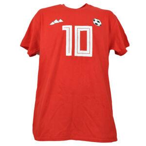Egypt 10 Mohamed M. Salah Player 10 Red Tshirt Tee Soccer Futbol Mens Adult