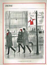 C- Publicité Advertising 1969 Dessin signé Tetsu