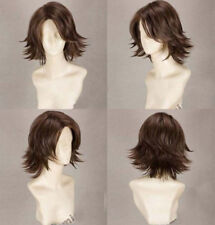 Anime FINAL FANTASY YUNA Wigs Short Straight Dark Brown Cosplay Costume Wig