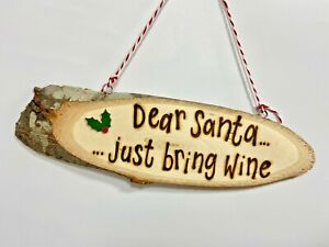 Christmas Decoration Plaque / Sign   Personalised Wooden Wall Plaque Hanging
